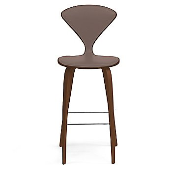 Natural Walnut Seat, Chrome Base finish / Upholstery Selection Vincenza Leather VZ-2115