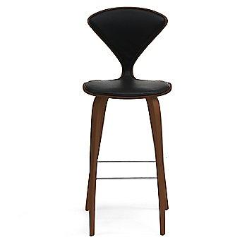 Natural Walnut Seat, Chrome Base finish / Upholstery Selection Sabrina Leather Black