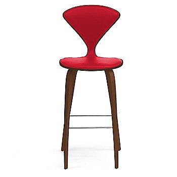 Natural Walnut Seat, Chrome Base finish / Upholstery Selection Sabrina Leather Carmen
