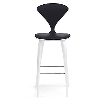 White Lacquer Seat, Chrome Base finish / Upholstery Selection Divina 191