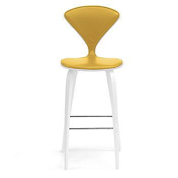 White Lacquer Seat, Chrome Base finish / Upholstery Selection Divina 444