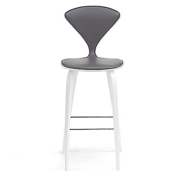 White Lacquer Seat, Chrome Base finish / Upholstery Selection Divina 691