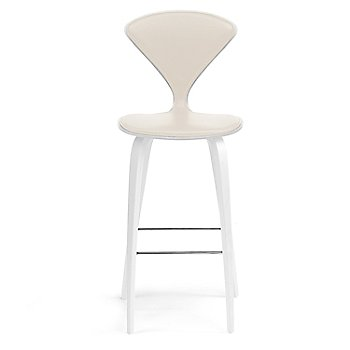 White Lacquer Seat, Chrome Base finish / Upholstery Selection Vincenza Leather VZ-2122
