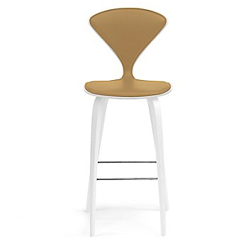 White Lacquer Seat, Chrome Base finish / Upholstery Selection Vincenza Leather VZ-2111