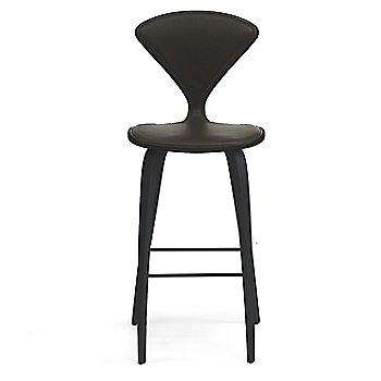 Classic Ebony (Ebonized Walnut) finish / Upholstery Selection Vincenza Leather VZ-BLCK
