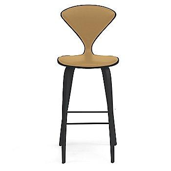 Classic Ebony (Ebonized Walnut) finish / Upholstery Selection Vincenza Leather VZ-2111