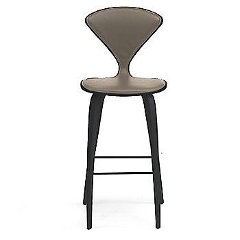 Classic Ebony (Ebonized Walnut) finish / Upholstery Selection Vincenza Leather VZ-2101
