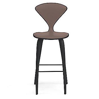 Classic Ebony (Ebonized Walnut) finish / Upholstery Selection Vincenza Leather VZ-2115