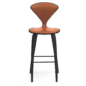 Classic Ebony (Ebonized Walnut) finish / Upholstery Selection Sabrina Leather Robotic Orange