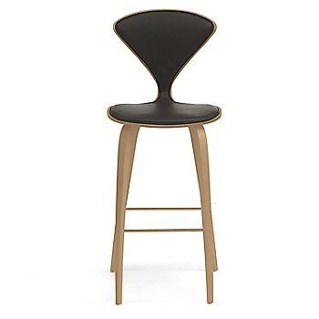 White Oak Rift Cut finish / Upholstery Selection Vincenza Leather VZ-BLCK
