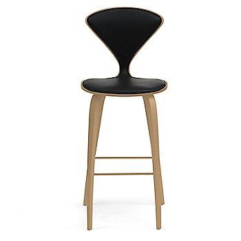 White Oak Rift Cut finish / Upholstery Selection Sabrina Leather Black