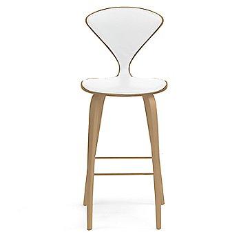 White Oak Rift Cut finish / Upholstery Selection Sabrina Leather White