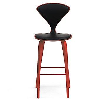 Stella Orange finish / Upholstery Selection Sabrina Leather Black
