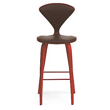 Stella Orange finish / Upholstery Selection Sabrina Leather Coffee Bean