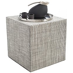 Basketweave Cube Pouf
