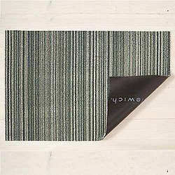 Mixed Skinny Stripe Shag Indoor/Outdoor Mat (Spearmint/Utility) - OPEN BOX RETURN