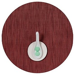 Bamboo Round Placemat (Cranberry) - OPEN BOX RETURN