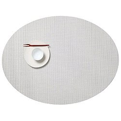 Mini Basketweave Oval Placemat (White) - OPEN BOX RETURN