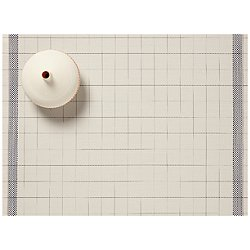 Selvedge Placemat by Chilewich(Natural/Blue)-OPEN BOX RETURN