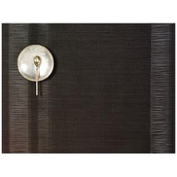 Tuxedo Stripe Placemat by Chilewich (Sable)-OPEN BOX RETURN