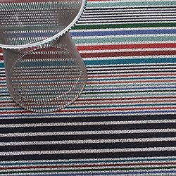 Mixed Stripe Indoor/Outdoor Shag Floormat