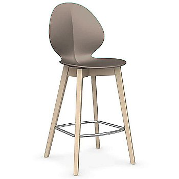 Bleached Beech finish / Matte Taupe / Counter Stool