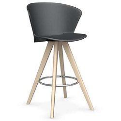 Bahia W Counter Stool (Matte Grey/Bleached Beech) - OPEN BOX