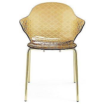 Polished Brass finish / Transparent Amber