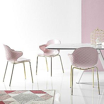 Polished Brass finish / Glossy Pale Pink