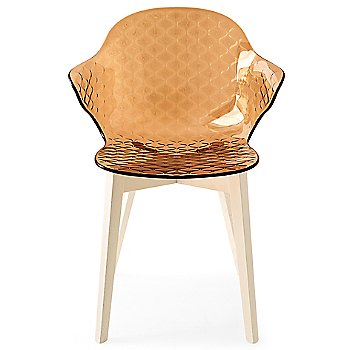 Bleached Beechwood Frame / Transparent Amber Seat