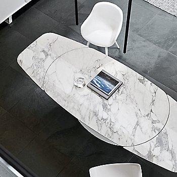 Matte Optic White Legs / White Marble Ceramic Top finish