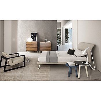 Linea Bed with Linea 3 Drawer Chest with Steel Base