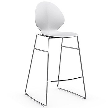 Shown in Matte Optic White, Counterstool