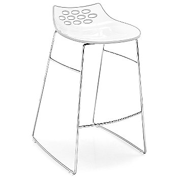 Shown in White/Transparent, Counterstool height
