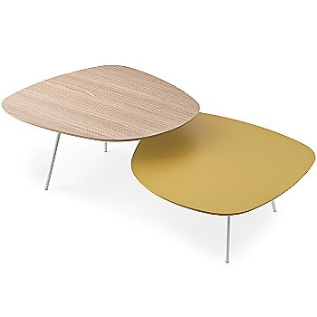 Shown in Natural upper surface, Matte Mustard Yellow lower surface