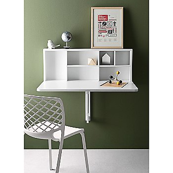 Spacebox Wall-Mounted Folding Table, in use