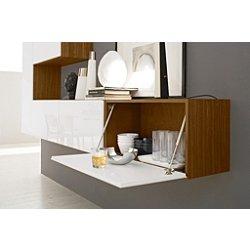 Inbox Horizontal Hanging Cabinet, Drop Door