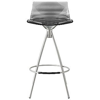 Shown in Transparent Orange, Chromed finish, Counterstool
