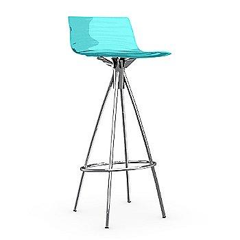 Transparent Aquamarine / Chromed / Barstool