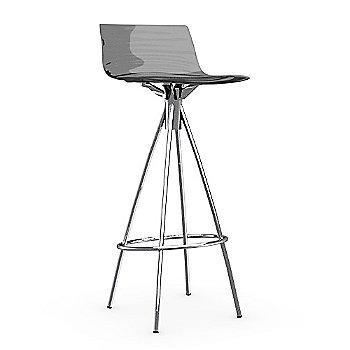 Transparent Smoke Grey / Chromed / Barstool