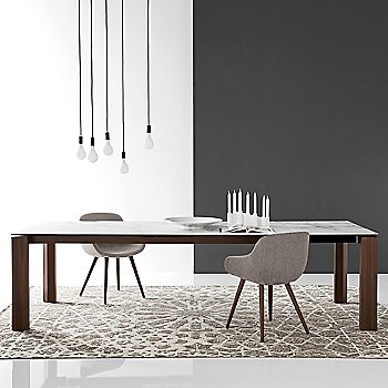 Omnia Glass Extension Table / in use
