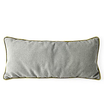 Rectangle, Light Gray Cushion, Olive Green Trim