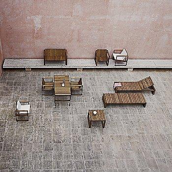 BK14 Sunbed with BK16 Side Table, BK12 Lounge Sofa, BK11 Lounge Chair, BK15 Dining Table, BK10 Dining Chair with Cushion, BK10 Dining Chair and BK11 Lounge Chair with Cushion