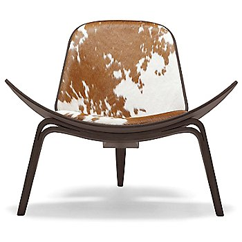 Walnut - Lacquered / Leather Brown/ White Cowhide