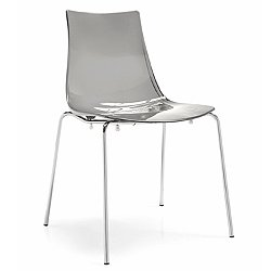 Led Dining Chair (Transparent Smoke Grey) - OPEN BOX RETURN