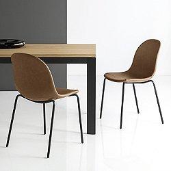 Academy Upholstered Chair - Tubular Base