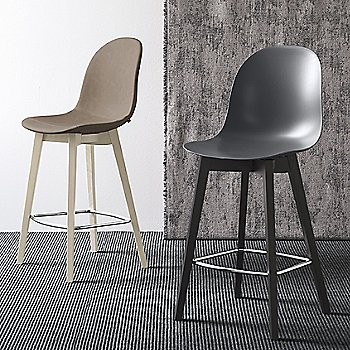 Academy W Upholstered Stool with Academy W Stool