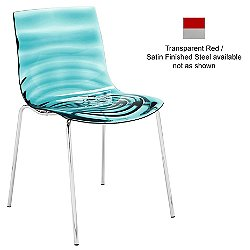 L'Eau Chair (Transparent Red/Satin Finished Steel) - OPEN BOX RETURN