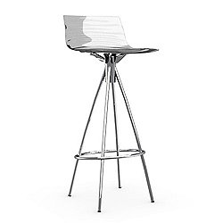 L'eau Stool (Transparent/Chromed/Barstool) - OPEN BOX RETURN