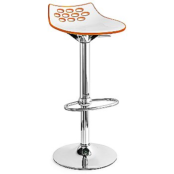 White/ Transparent Orange seat